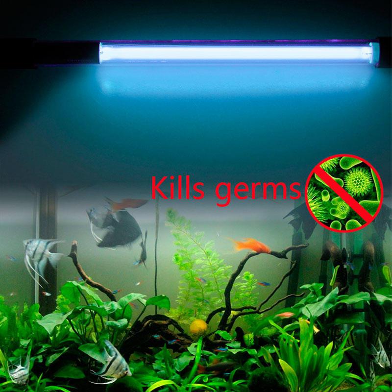 356Освещение аквариума лампами люминесцентными