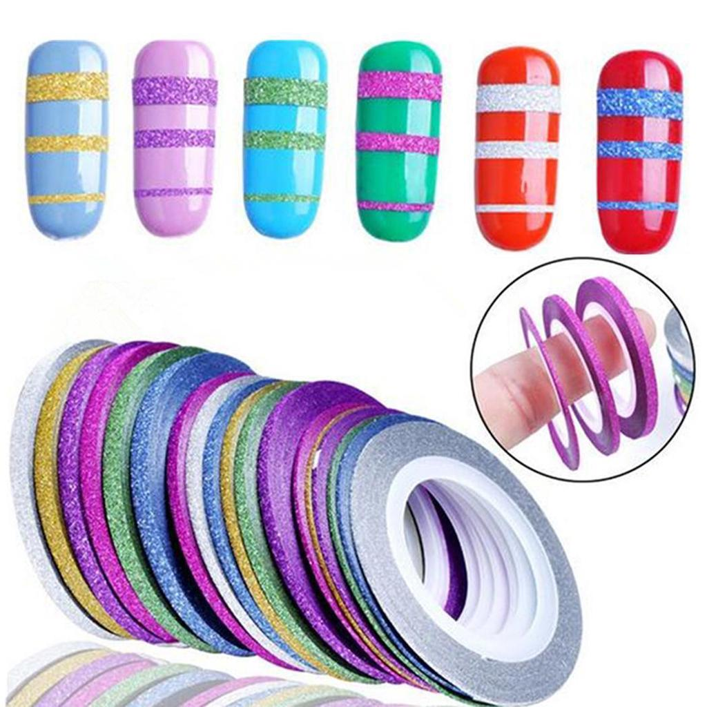 Металлизированные ленты для маникюра