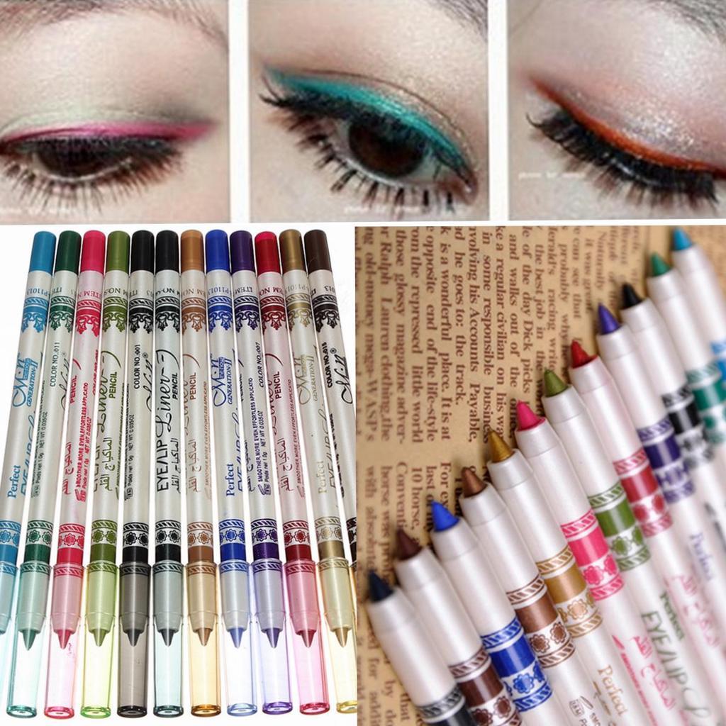 Цветные карандаши для глаз макияж фото