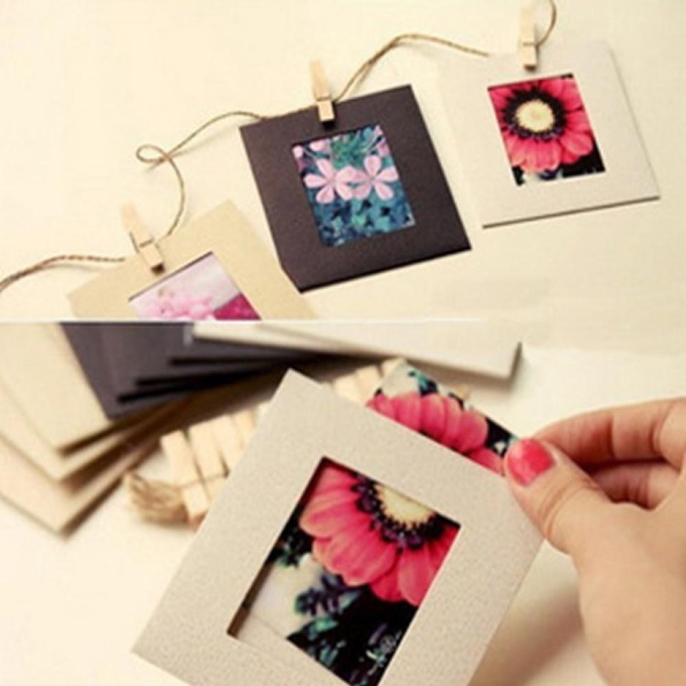 Рамки для фото на прищепках своими руками