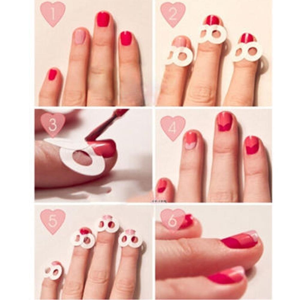 Идеальные ногти : трафареты для 72