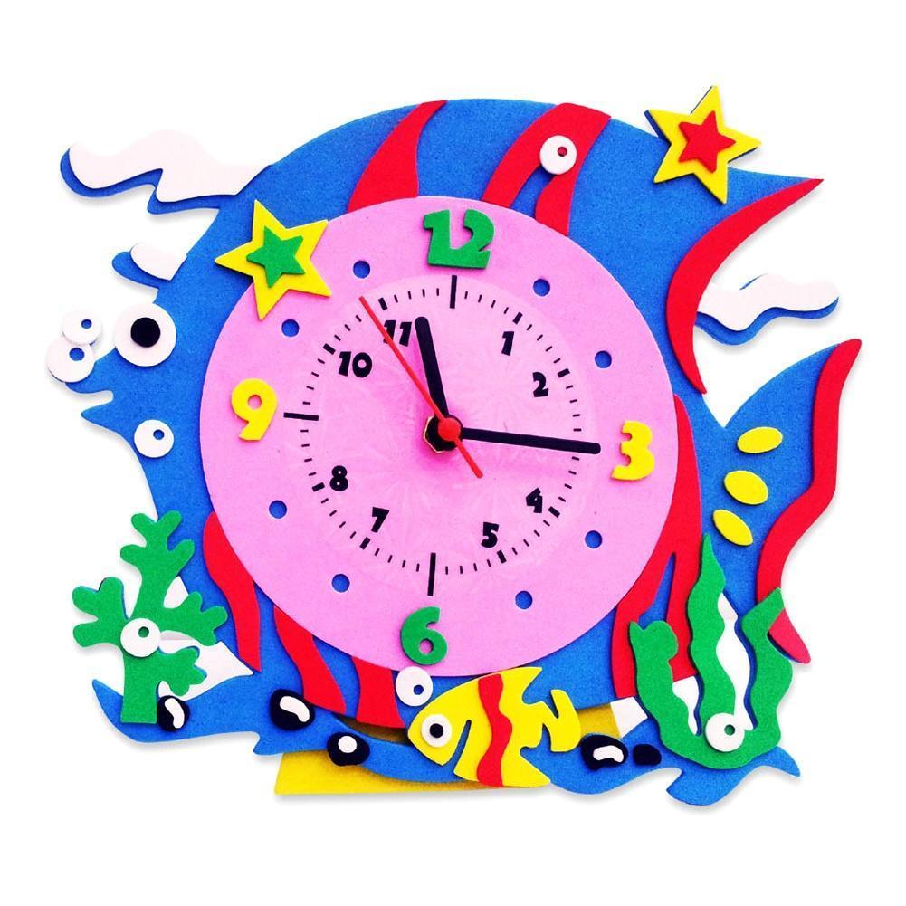 Сегодня хочу показать, как сделать часы своими руками для ребёнка 81