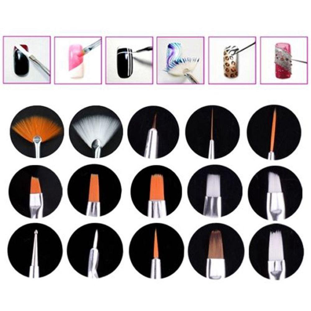 Как использовать' кисти для ногтей