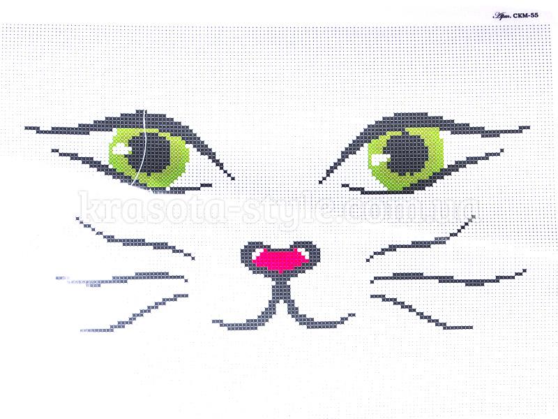 Мордочка кота для вышивки