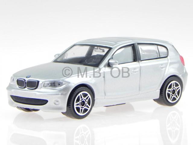BMW e87 1er 120i silber Modellauto 30181 Bburago 1:43