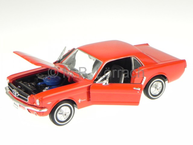 Ford-Mustang-Coupe-1964-rosso-modellino-22451-Welly-1-24