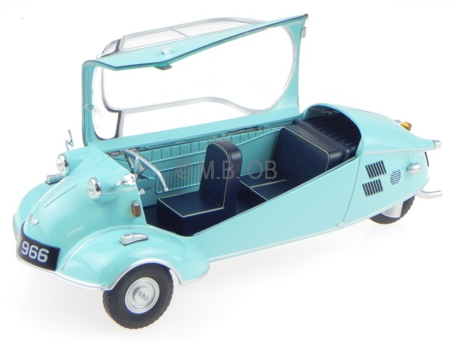 Messerschmitt KR200 KR 200 bubble top blau Modellauto Oxford 1:18