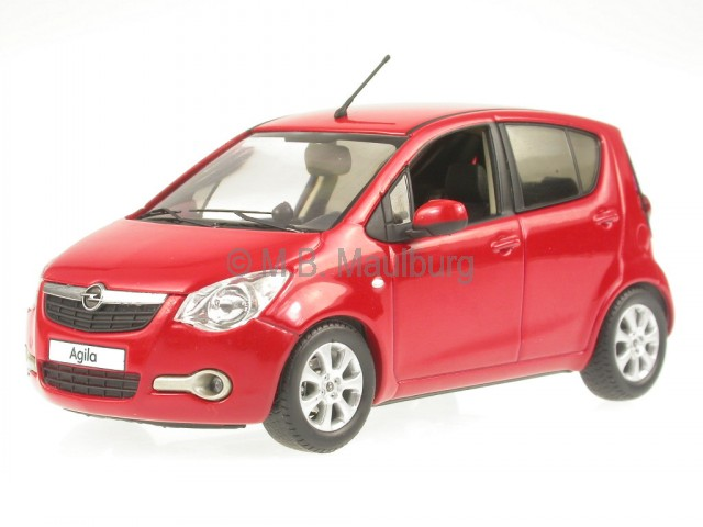 Opel Agila rot Modellauto Schuco 1:43