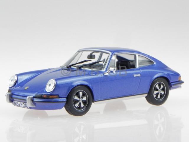 Porsche 911 S 2.4 blau met.1973 Modellauto 750055 Norev 1:43