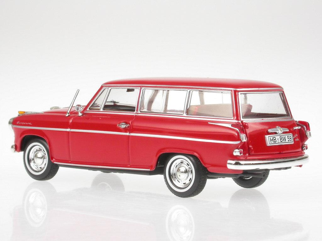 Borgward Isabella Kombi 1958 rot Modellauto 400096010 Minichamps 1:43