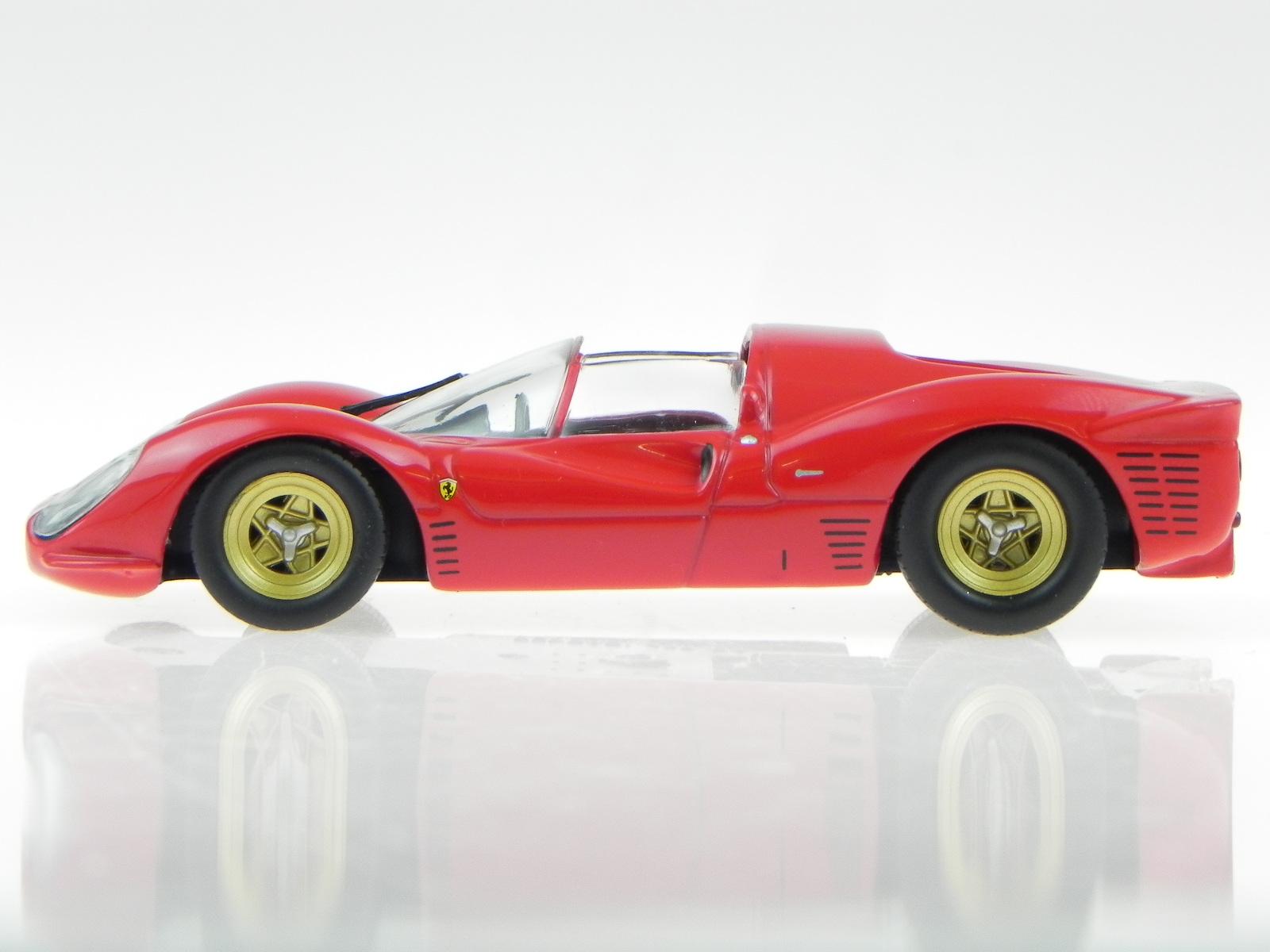 Ferrari 330 P4 Rot Modellauto In Vitrine 1 43 Eur 19 99 111js Bet De