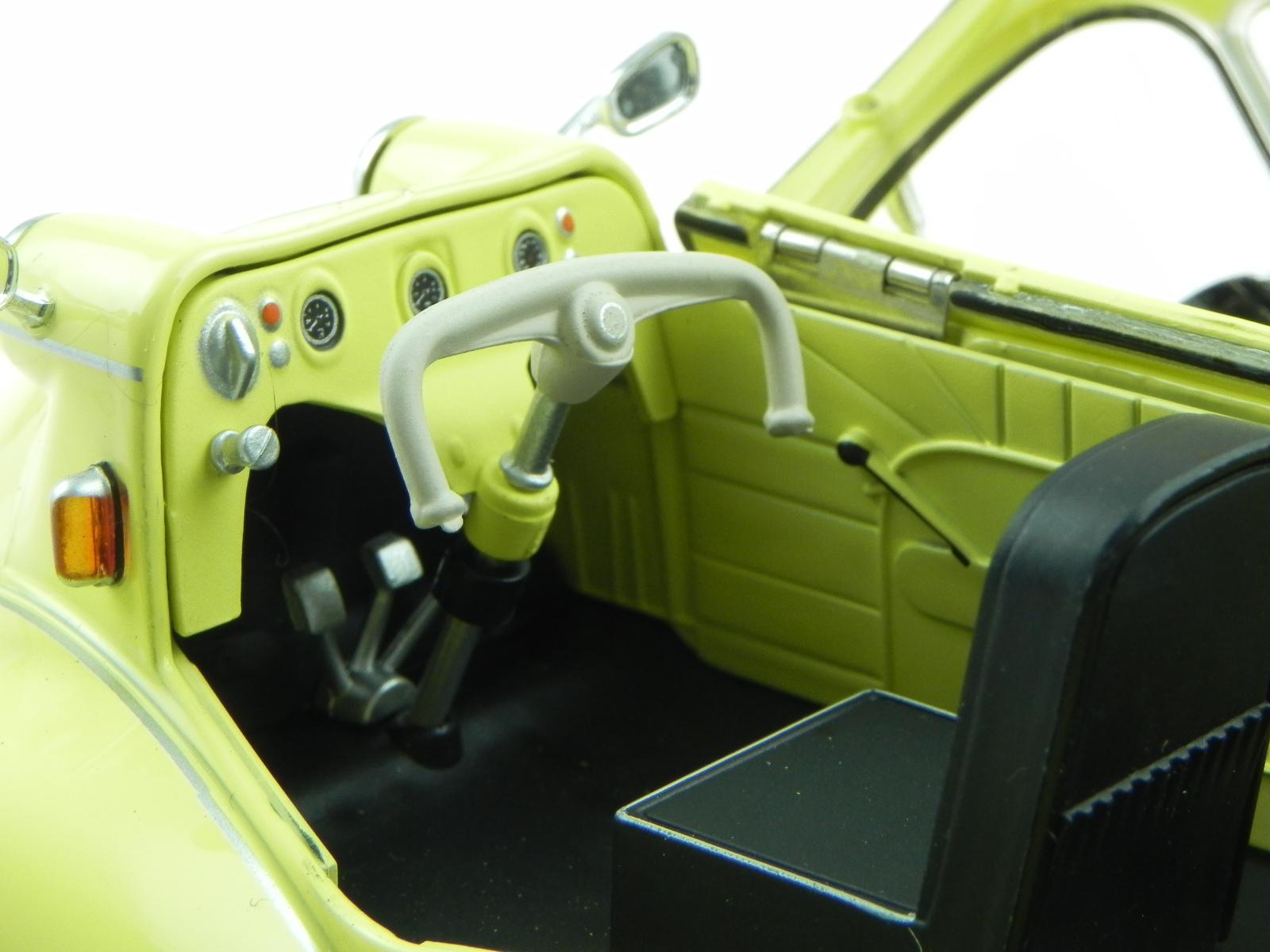 Messerschmitt KR200 KR 200 bubble Cabrio gelb Modellauto Oxford 1:18
