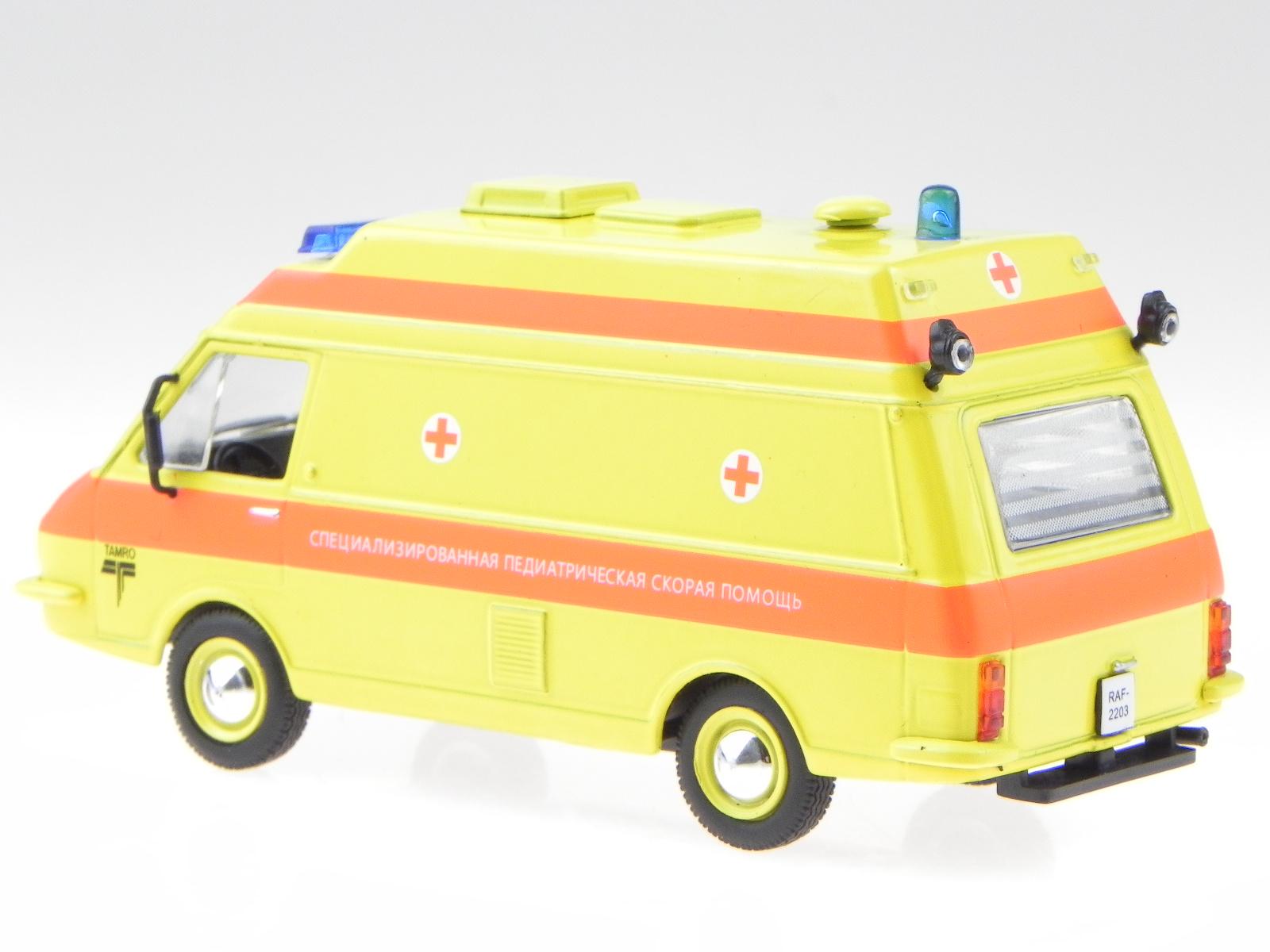Raf 2203 Latvija Ambulance cuerpo de bomberos coche en miniatura 7495011 Atlas 1