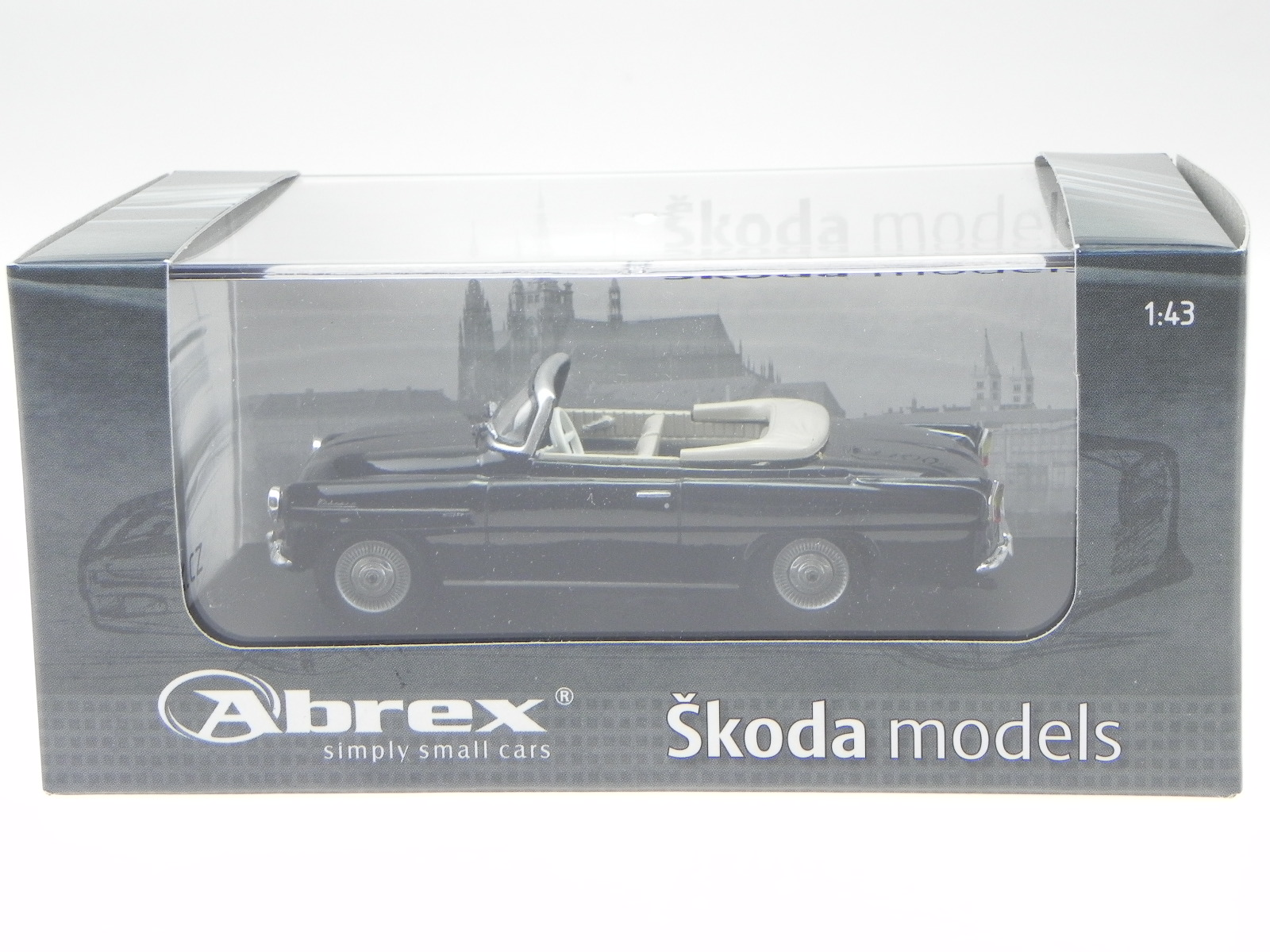 Skoda Felicia 1963 schwarz Modellauto 143ABS-703D Abrex 1:43