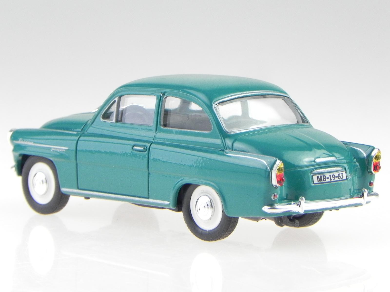 Skoda Octavia 1963 blau grün Modellauto 143ABS-704LK Abrex 1:43