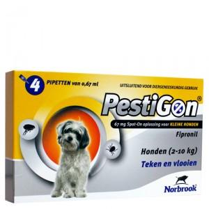 Pestigon Spot-on! hond (2-10kg) 4 x 0,67 ml