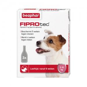 Beaphar 2-10 kg 3 pip fiprodog tegen teken en vlooien