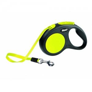 Flexi rollijn neon compact zwart-geel