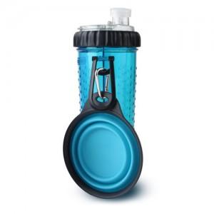 Popware Snack Duo met Travelcup Blauw