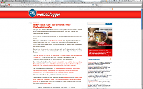Screenshot werbeblogger