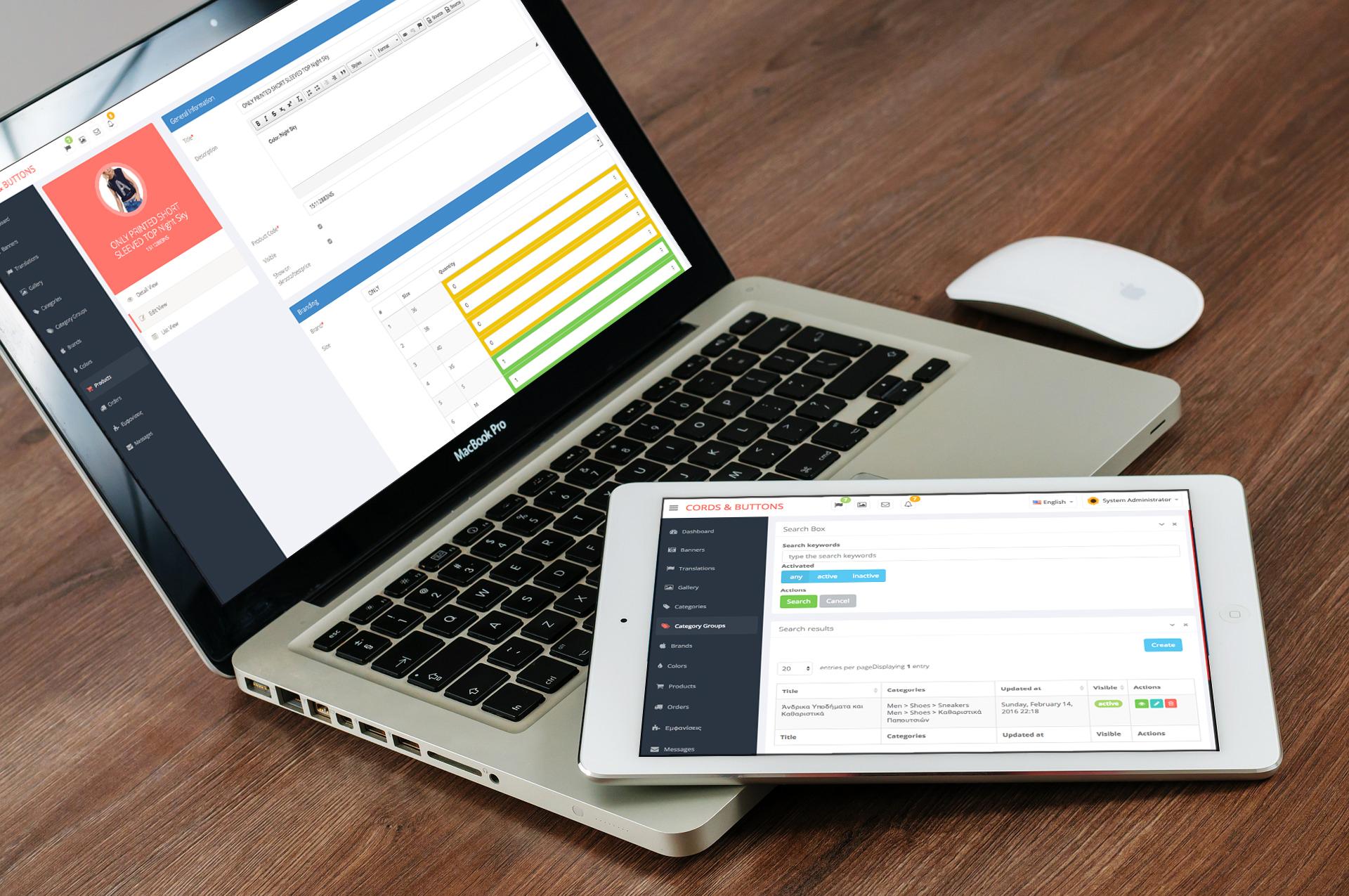 Dashboard macbook ipad