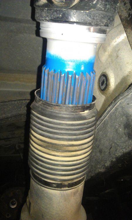 Как восстановить шлицевое соединение на кардане