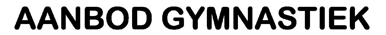 Aanbod GymFlex gymnastiek