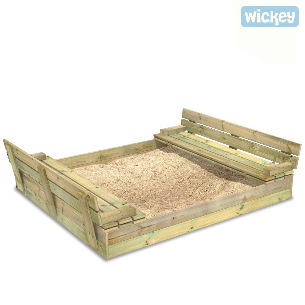 wickey flip flippey sandkasten mit deckel sandkiste sitzbank buddelkiste sandbox ebay. Black Bedroom Furniture Sets. Home Design Ideas