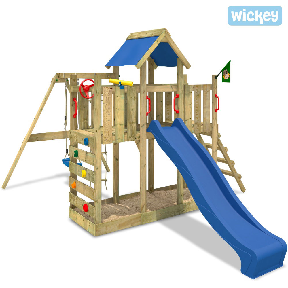 wickey twinflyer twinstar kletterturm spielturm schaukel rutsche spielhaus holz ebay. Black Bedroom Furniture Sets. Home Design Ideas