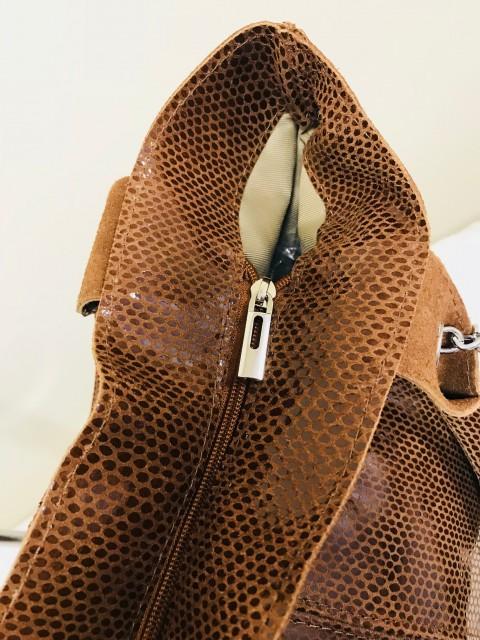Piton mintás valódi olasz bőr táska - camel - Orsi Outlet a358accc02