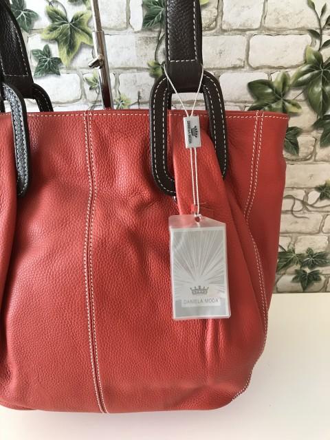 38aa2d8e52 Daniela Moda olasz bőr táska terracotta - Orsi Outlet