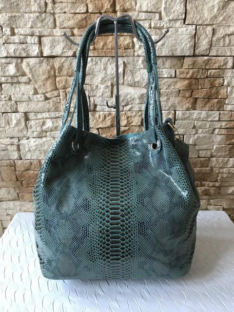 Piton mintás olasz bőr táska - zöld - Orsi Outlet 997ede816e