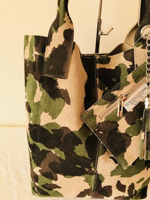 Military shopper tárcával VALÓDI bőr - Orsi Outlet ca996e3019