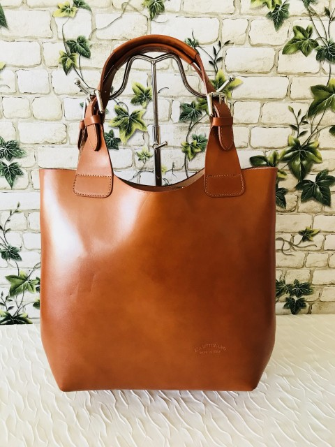 Cognac valódi olasz bőr táska - Orsi Outlet a2a4c2300b