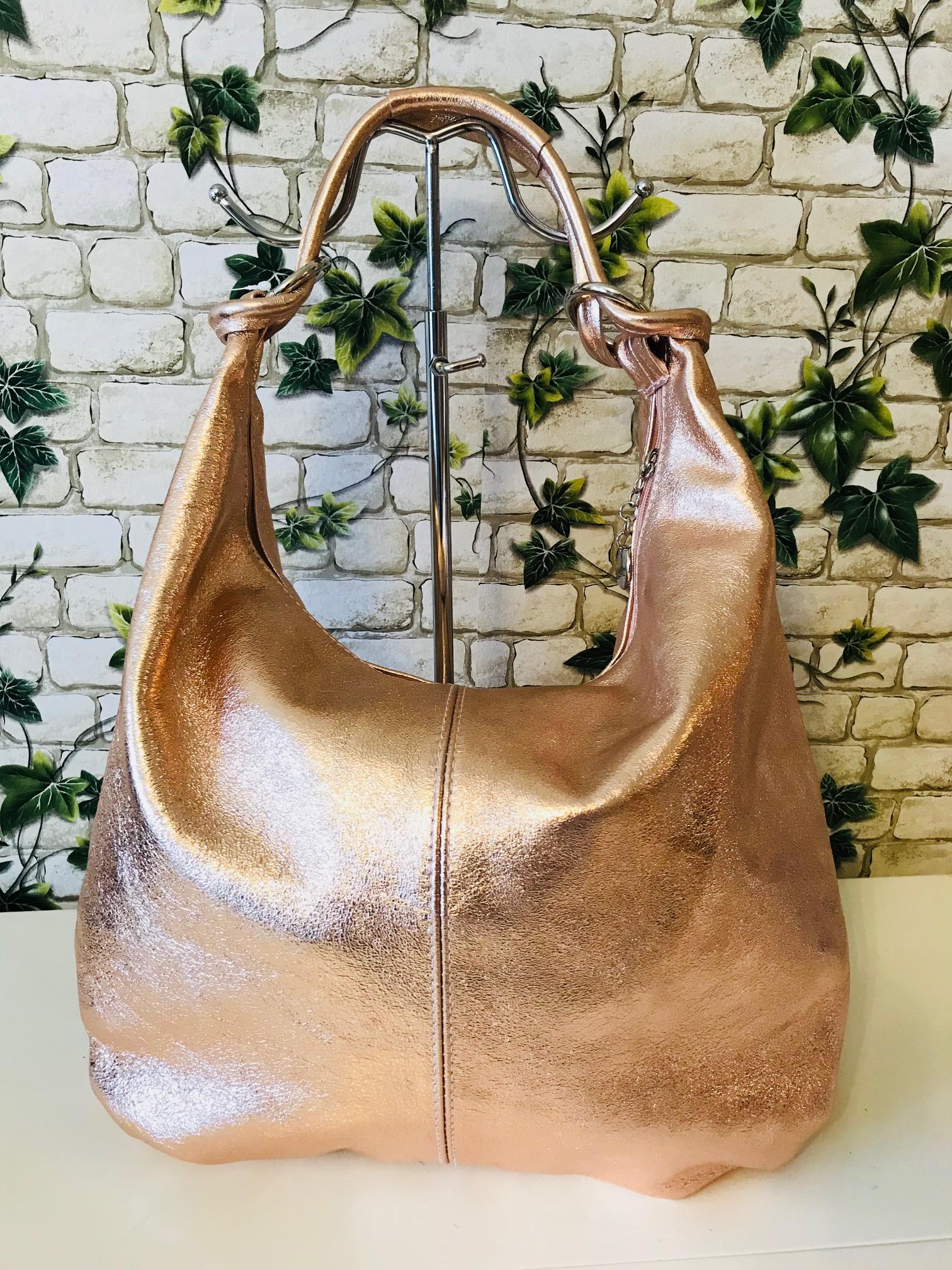 7c1cee1241 Roze gold valódi bőr táska - Orsi Outlet