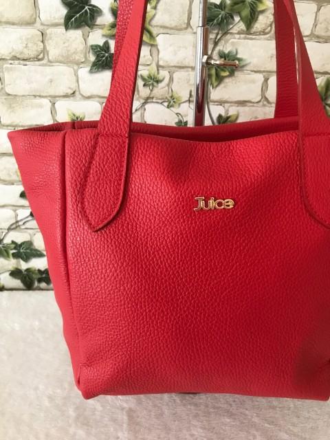 08e8e77520 JUICE márkás valódi olasz bőr táska - piros - Orsi Outlet