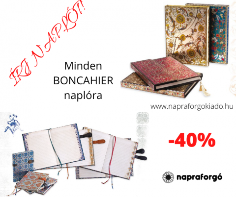 Akció a BONCAHIER naplókra!