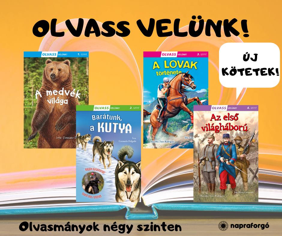 Új kötetekkel bővült az Olvass velünk-sorozat!