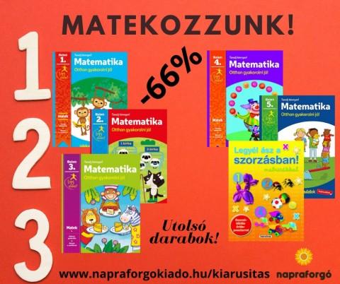 Matekos kötetekkel folytatódik a kiárusítás!