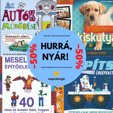 Interaktív kötetekkel folytatódik a Hurrá, nyár! kampány