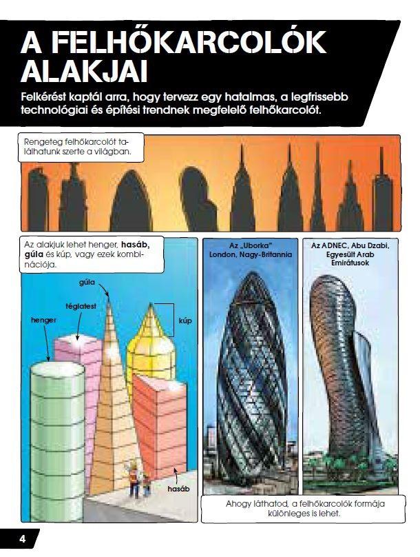 c555dac0f0 Te vagy az ész - Tervezz felhőkarcolót - Napraforgó Könyvkiadó