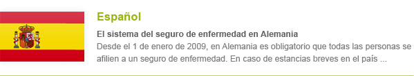Krankenversicherung Spanisch