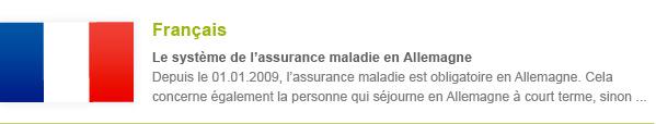 Krankenversicherung Französisch