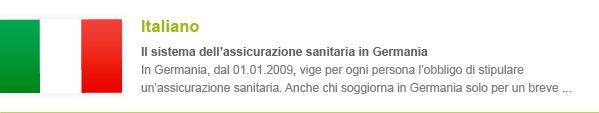 Krankenversicherung Italienisch