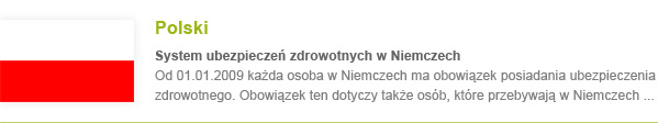 Krankenversicherung Polnisch
