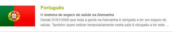Krankenversicherung Portugiesisch