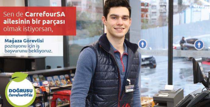 İstanbul Kartal Tual Adalar CarrefourSA Mağaza Görevlisi
