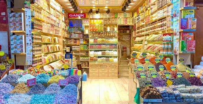 Lokum,Baharat,Çay Mağazası Tezgahtar Çalışma Arkadaşı Eminönü