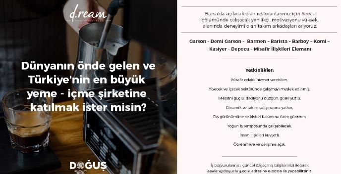 Restaurant Servis Personel - Bursa