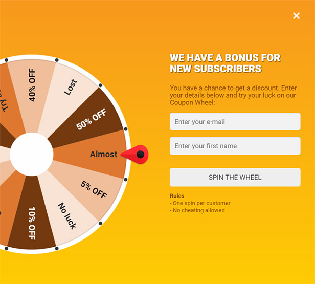 Coupon Wheel For WooCommerce and WordPress wordpress-woocommerce-plugins